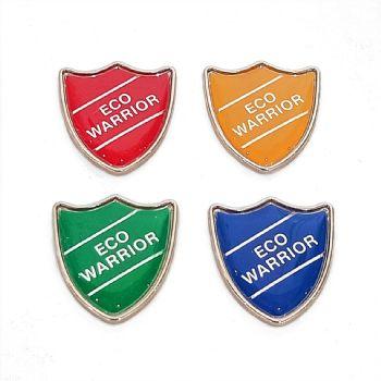 ECO WARRIOR shield badge